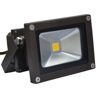10/15 Watt - 50W Equal - LED - Flood Light Fixture - 4.5 in. Width - 11-20V - Dark Bronze Housing