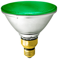 90 Watt - PAR38 - Green - Halogen - 2,500 Life Hours - 120 Volt