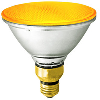 PAR38 - 90 Watt - Yellow Halogen Lamp - 2500 Life Hours - 120 Volt - Bulbrite 683908