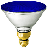 90 Watt - PAR38 - Blue - Halogen - 2,500 Life Hours - 120 Volt