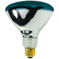 100 Watt - BR38 - Incandescent Reflector - Blue - Flood - Medium Base - 2,000 Life Hours - 120 Volt