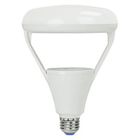 1100 Lumens - 3000 Kelvin Halogen White - LED BR40 - 14 Watt - 85W Equal - Dimmable - 120V - Green Creative 40637