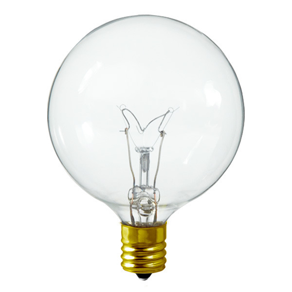 7 Watt - G16 Globe - Clear - Intermediate Base Image