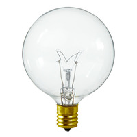 7 Watt - G16 Globe - Clear - Intermediate Base - 60 Lumens - 130 Volt - 25 Pack
