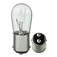6 Watt - 12 Volt - S6 Indicator - Clear - DC Bayonet Base - 1,500 Life Hours - 30 Lumens - 6 Pack