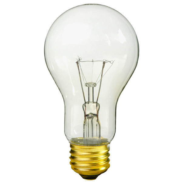 75 Watt - A19 - Clear - 10,000 Life Hours Image