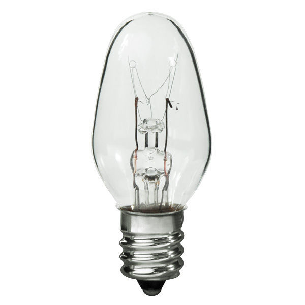 10 Watt - C7 - Clear - Candelabra Base Image