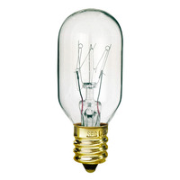 15 Watt - T7 Incandescent Light Bulb - 10 Pack - Clear - Candelabra Brass Base - 130 Volt - Satco S3905
