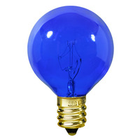 7 Watt - Blue - G16 (G50) - Intermediate Base - 2 in. Dia. - 130 Volt - Amusement Light Bulb - 25 Pack