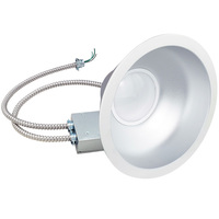 3100 Lumens - 48W LED - Commercial Downlight - 3500K - 9.5 in. Housing - Integrated Trim - 120-277V - Green Creative 97707
