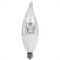 225 Lumens - 3.1W - 25W Equal - LED Chandelier Bulb - 3000 Kelvin - Clear - Bent Tip - Candelabra Base - 120V - Euri Lighting ED12-1100