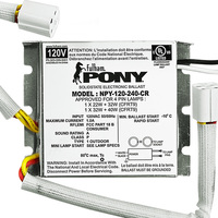 Fulham Pony NPY-120-240-CR - (2) Lamp - 120 Volt - Rapid Start - 1.02 Ballast Factor