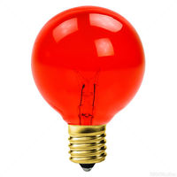7 Watt - Amber - G16 (G50) - Intermediate Base - 2 in. Dia. - 130 Volt - Amusement Light Bulb - 25 Pack