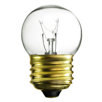 7.5 Watt - S11 Incandescent Light Bulb - 5 Pack - Clear - Medium Brass Base - 120 Volt - Satco S3606