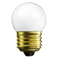 7.5 Watt - S11 Incandescent Light Bulb - 5 Pack - Frosted - Medium Brass Base - 120 Volt - Satco S3607