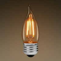 LED Chandelier Bulb - Filament Type - 2 Watt - 200 Lumens - 25 Watt Equal - Warm Tone - 2700 Kelvin - Medium Base - Dimmable