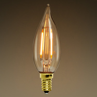 LED Chandelier Bulb - Color Matched For Incandescent Replacement - Tinted - 2 Watt - 40W Equal - 160 Lumens - CRI 80 - LifeBulb 10130