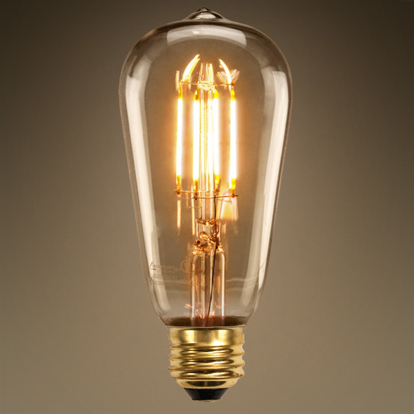 led edison bulb 4 5w 60w equal 2200k amber tinted. Black Bedroom Furniture Sets. Home Design Ideas
