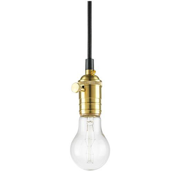 3.5 ft. - Antique Pendant Light Socket - Brass Image
