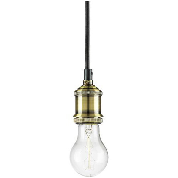 3.5 ft. - Slim Antique Pendant Light Socket - Brass Image