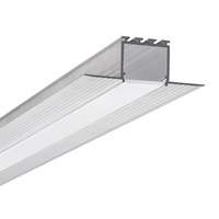 6.56 ft. Non-Anodized Aluminum KOZEL Channel - For LED Tape Light and Strip Light - Klus B6454L