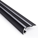 6.56 ft. Black Aluminum STEP Channel Image