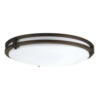 16 in. LED Flush Mount Ceiling Fixture - 24 Watt - 1600 Lumens -   200W Incandescent Equal - 3000 Kelvin - Dimmable - 120V - 5 Year Warranty - Lithonia FMSATL