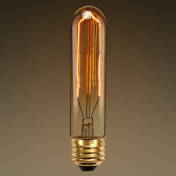 20 Watt - Vintage Antique Light Bulb - T9 Tubular Style Image