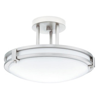 Lithonia 11750 BN M4 - (1 Light) Semi-Flush Ceiling Fixture - Brushed Nickel
