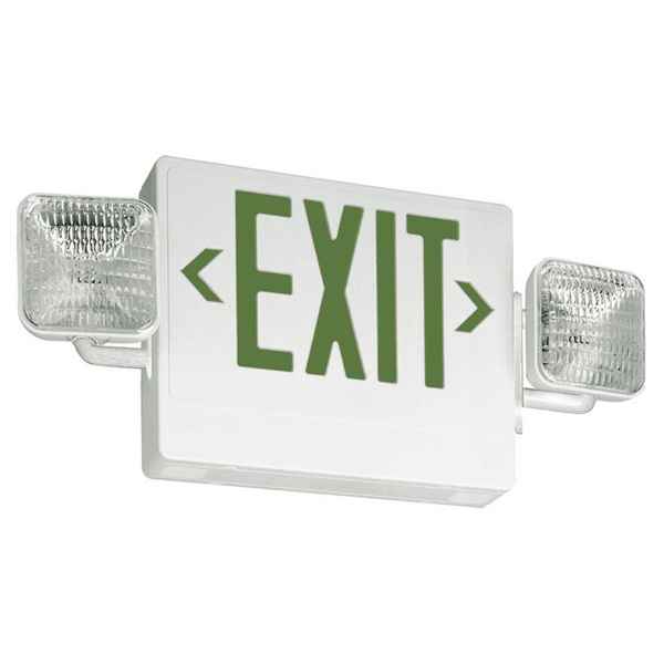 Single Face LED Combination Exit Sign - LED Lamp Heads Image