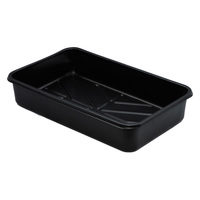 13.8 in. x 8.3 in. Propagation Tray - Seed Flat - Without Holes - Black - PLT COO3