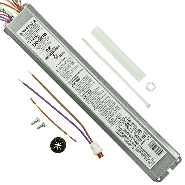 t8 and t12 emergency ballasts linear fluorescent 1000bulbs com bodine b50 emergency backup battery