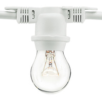 48 ft. - 15 Sockets - 36 in. Spacing - Patio Light Stringer - White Wire - Male to Female - Bulbs Not Included - PLT YXL-C2-L15-W