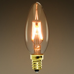 LED - Filament Type - 2 Watt - Chandelier Bulb Image