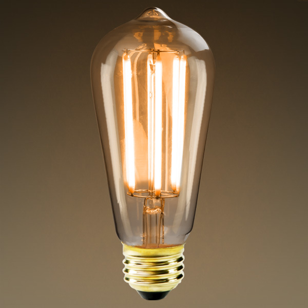 LED Edison Bulb - Vertical Filament - 6 Watt Image