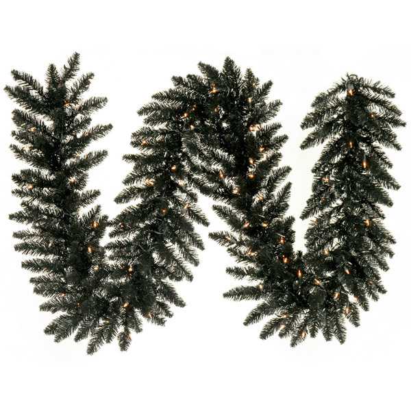 9 ft. Pitch Black Fir Garland Image