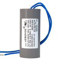 400VAC - Dry Film Capacitor for HID Lighting - 10uf - Plastic Round Case - Aerovox D83W4010M01H