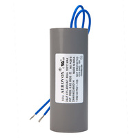 400VAC - Dry Film Capacitor for HID Lighting - 24uf - Plastic Round Case - Aerovox D84W4024M01H
