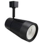 Black - Flat Back Cylinder Track Fixture - Dimmable LED Diode Image