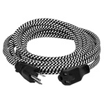 15 ft. - Black and White Rayon Antique Extension Cord Image