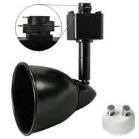 Black - Bullet Cylinder Track Fixture - MR16 GU10 Base - Operates up to 50W Max. - Halo Track Compatible - 120 Volt - PLT 10057