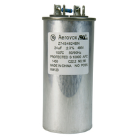 480VAC - Oil Filled Capacitor for HID Lighting - 24uf - Metal Round Case - Aerovox Z74S4824BN