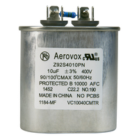 400VAC - Oil Filled Capacitor for HID Lighting - 10uf - Metal Oval Case - Aerovox Z92S4010PN