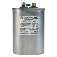 480VAC - Oil Filled Capacitor for HID Lighting - 24uf - Metal Oval Case - Aerovox Z93S4824PN