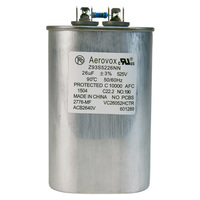 525VAC - Oil Filled Capacitor for HID Lighting - 26uf - Metal Oval Case - Aerovox Z93S5226NN