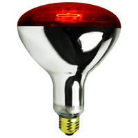 250 Watt - R40 - IR Heat Lamp - Red - 5,000 Life Hours - 120 Volt