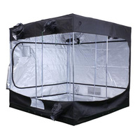 8 x 8 x 7.3 ft. - Fortress 470 Grow Tent - Mylar Thermal Protection - Adjustable Intake and Exhaust Ports for Ventilation - Waterproof Floor - Sun Hut 706664