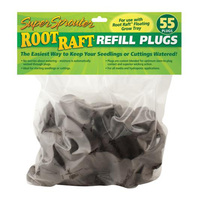 Root Raft Refill Plugs - For Use with Root Raft Floating Grow Tray - Bag of 55 - Super Sprouter GH3253