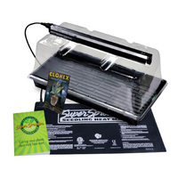 Propagation Station w/ T5 Fluorescent Grow Light - Includes Heat Mat, 10 x 20 in. Tray, 7 in. Channeled Dome and Clonex Rooting Gel - Super Sprouter 726402