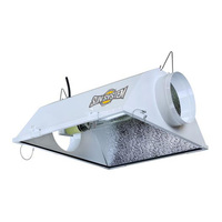 Yield Master - 8 in. Air Cooled Reflector Hood - MH or HPS - Mogul Socket - Operates up to 1000 Watt Lamp - Tempered Safety Glass - Ballast and Lamp Sold Separately - Sunlight Supply 904665